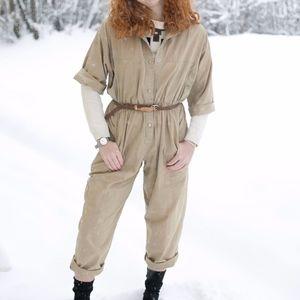 Pants - Vintage Khaki Boiler Suit